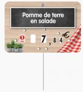 Étiquette pour boucherie en pvc cristal - Dimensions : 10,5 x 7 -12 x 8 cm