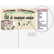 Etiquette pour boucherie présence allérgènes - Paquet de 10 - Pique-prix - à roulettes