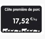 Étiquette pour boucheries charcuteries - Paquet d 10 ou Unité - Sans attachement ou à pique inox