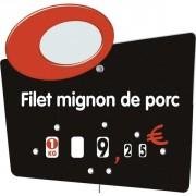 Étiquette personnalisée pour boucheries - Paquet de 10 ou Unité - Pique inox - à roulettes