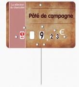 Étiquette pour boucheries parchemin - Dimensions : 10,5x7 ou 12x8 cm
