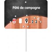 Étiquette pour boucheries prix - Dimensions : 10,5x7 ou 12x8 cm