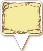Etiquette pour boulangerie - Dimensions (cm) : 5.5 x 3 - 5.5 x 4.5