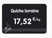 Étiquette pour charcuteries noire - Dimensions : 8 x 6 - 10,5 x 7 - 12 x 8 cm