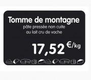 Étiquette pour fromageries crèmeries - Vendue à l'unité ou par paquet de 10 - Sans attachement ou avec pique inox