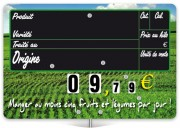 Etiquette prix à pattes - Dimensions (cm) : 15 x 10 ou 20 x 15