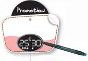 Etiquette prix affichage digital - Dimensions (cm) : 8 x 12