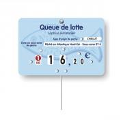 Etiquette prix poissonnerie - Dimensions : 12 x 8 cm