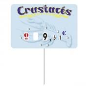 Etiquette prix poissonneries - Dimensions :  15 x 10 cm