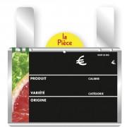 Etiquette produit pour fruits et légumes - Dimensions (L x l ) :  15 x 10 - 20 x 15 cm