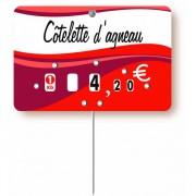 Etiquette PVC Boucherie - Paquet de 10 ou A Unité - Pique inox - à roulettes