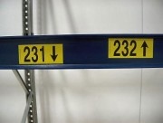 Étiquette signalétique entrepôt - Étiquettes autocollantes et magnétiques