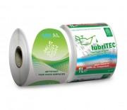 Etiquette synthétique en polyéthylène - Polyéthylène blanc protégé - Adhésif renforcé acrylique base eau - Pelliculage brillant - Impression Quadri