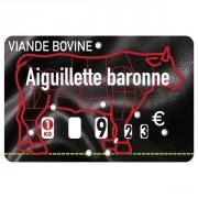 Étiquettes à roulettes pour boucheries - Paquet de 10 ou Unité - Pique inox - à roulettes