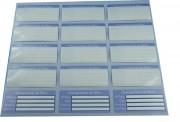 Étiquettes adhésives à rabat - Transparentes et auto-plastifiables
