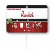 Etiquettes de prix pour boucheries - Paquet de 10 ou Unité - Pique inox - à roulettes