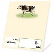Etiquettes fromage pour crémeries - Dimensions (cm) : 6 x 10