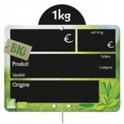 Etiquettes fruits et légumes bio frais