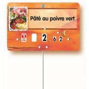 Etiquettes personnalisées boucheries - Dimensions : 8 x 12 - 7 x 10.5 cm