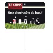 Etiquettes pour boucheries à pique inox - Paquet de 10 ou Unité - Pique inox - Neutre ou à texte