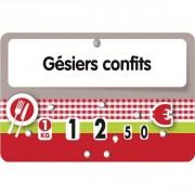 Etiquettes pour boucheries à pique inoxydable - Dimensions :  12 x 8 -  10.7 x  7 cm