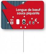 Etiquettes pour boucheries à roulettes prix - Dimensions : 12 x 8 - 10.5 x 7 cm