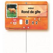 Etiquettes pour boucheries bœuf et veau - Dimensions : 12 x 8 cm