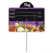 Étiquettes pour fruits et légumes à pique inox - Condition de vente :  Paquet de 10