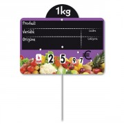 Etiquettes pour fruits et légumes à pique inox - Paquet de 10
