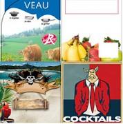Etiquettes pour industrie agroalimentaire - En vélin ou en synthétique - Adhésives ou non-adhésives
