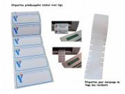 Étiquettes pour vêtement prédécoupées - Thermocollage à 180/220° pendant 12 secondes.