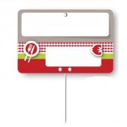 Etiquettes prix boucheries à pique inoxydable - Dimensions :  10.5 x 7  -  12 x  8 cm