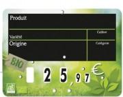 Etiquettes prix fruits et légumes - Paquet de 10