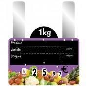 Etiquettes prix fruits et légumes à grandes pattes - Vendu par paquet de 10