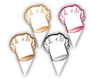 Etiquettes prix pâtisserie - Dimensions (cm) : 3 x 6 ou 8 x 6