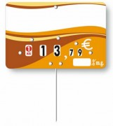 Etiquettes prix pour crèmeries - Dimensions : 10.5 x 7cm