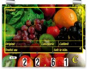 Etiquettes prix pour fruits - Dimensions (cm) : 20 x 15