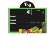 Etiquettes prix pour fruits et légumes - Vendu par paquet de 10