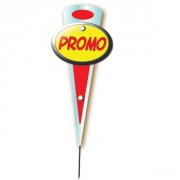 Etiquettes promotionnelles pour poissonneries - Paquet de 10 - Pique inox - Dim: 14 x 6 cm