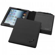 Étui iPad en tarpaulin - Pochette tablette en Tarpaulin, 342 gr, Noir / bleu