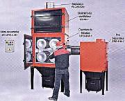 Extracteur de poussières sèches - 4 cartouches filtrantes pour surface totale de 52 M2