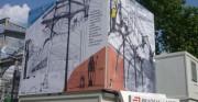 Façade bâtiment textile - Toile souple et résistance
