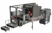 Fardeleuse sans soudure - Jusqu'à 22 000 briques/heure - Arrivée des produits sur le côté