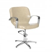 Fauteuil accoudoirs aluminium - Dimensions du fauteuil (L x P x H) : 60 x 63 x 86/10 cm