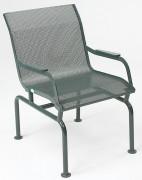 Fauteuil acier extérieur tôle perforée - A poser ou à sceller - Largeur d'assise : 50 cm