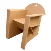 Fauteuil carton enfant - Monté : 48 x 49 x 43 cm