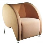 Fauteuil d'accueil design confort - Revêtement : simili cuir