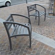 Fauteuil d'extérieur en acier galvanisé - Avec ou sans accoudoirs