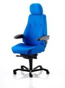 Fauteuil de bureau avec appuie-tête réglable - 100 % Cuir véritable - Matériau de haute qualité