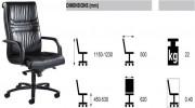 Fauteuil de direction à dossier haut ergonomique - Modèle standart - Finition aluminium noir